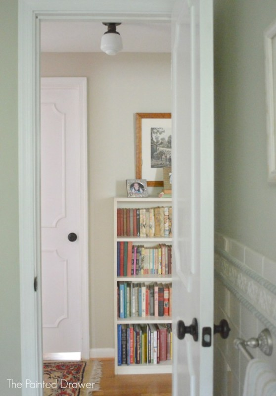 DIY Paneled Door by The Painted Drawer featured on @Remodelaholic
