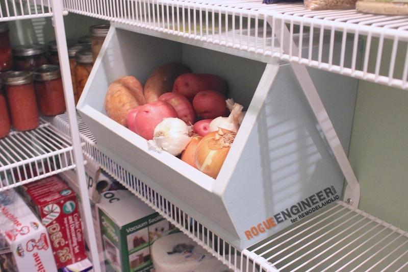 DIY Root Vegetable Storage Bin - Free Plans - Rogue Engineer 2