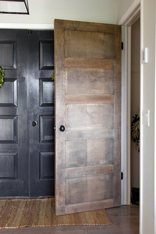 DIY a Wooden 5 Panel Door by Jenna Sue Design Co featured on @Remodelaholic