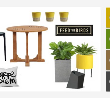 Spring Styling – Brightening up an outdoor space for spring.