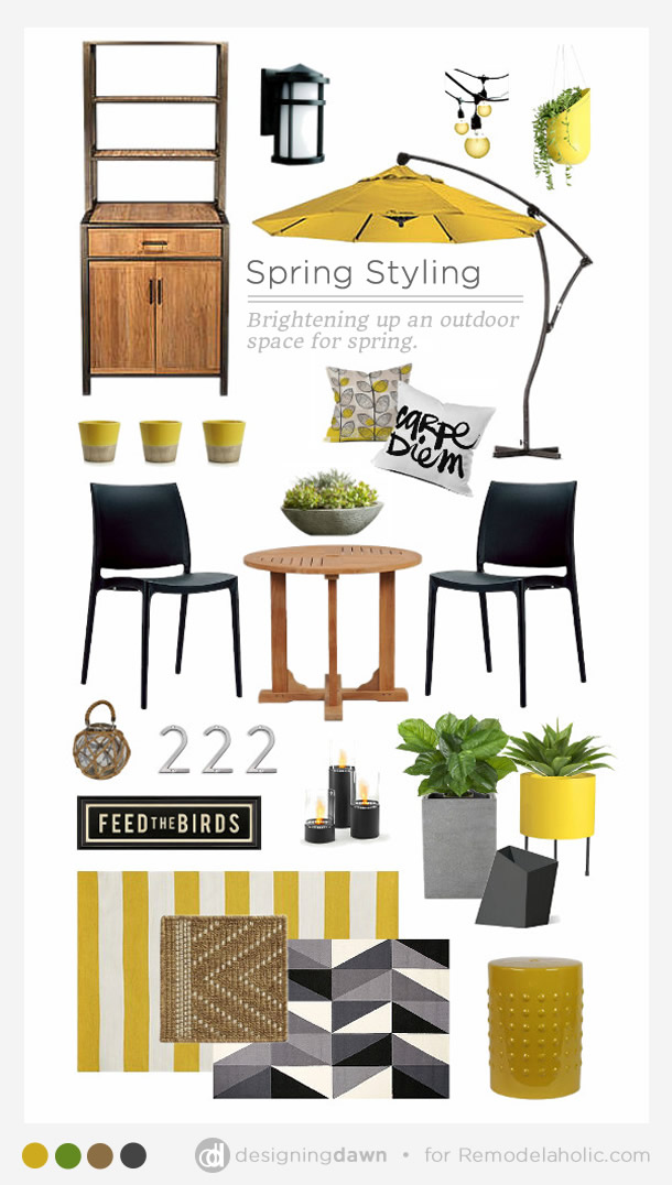 Spring Styling: brighten up your outdoor space (patio, deck, balcony) for spring | Designing Dawn for Remodelaholic.com
