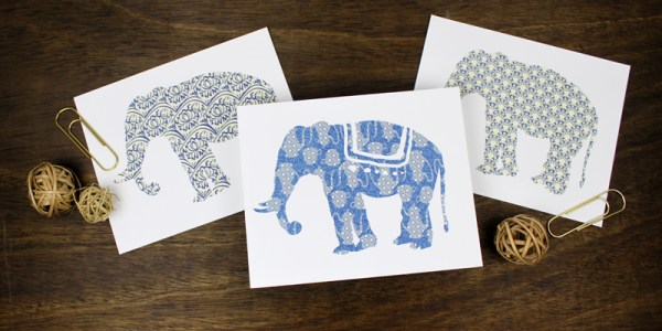 Free Elephant Art Prints | designed by Paperelli for Remodelaholic.com