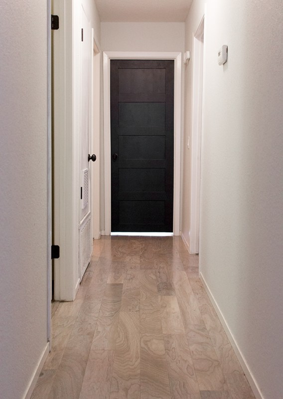 How to Add Style to an Plain Door by Jenna Sue Design Co featured on @Remodelaholic