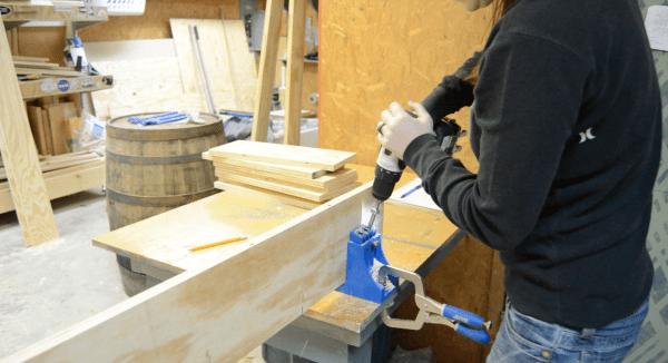 How to build a back-of-door shelf 4 - Wilkerdos on Remodelaholic