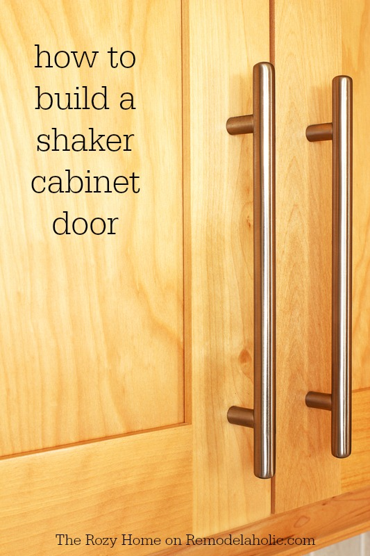 How to build a shaker cabinet door -- not as difficult as it looks!  sc 1 st  Remodelaholic & Remodelaholic | How To Make A Shaker Cabinet Door