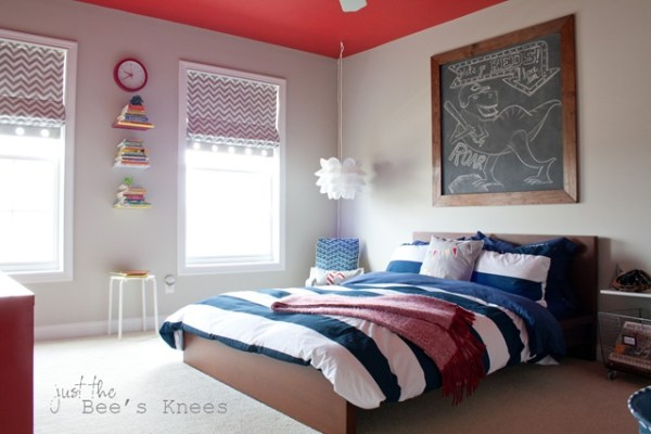 Just The Bees Knees painted ceiling to add height via @Remodelaholic