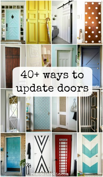 Lots of ways to update flat panel hollow core doors @Remodelaholic