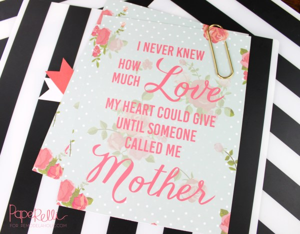 Free Mother's Day Printable Quote by Paperelli @Remodelaholic