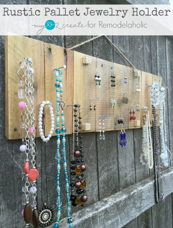 Rustic Pallet Jewelry Holder