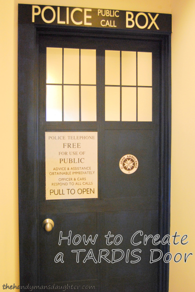 TARDIS police box door DIY - The Handyman's Daughter