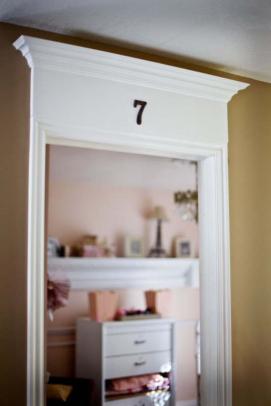 add trim and crown molding above a door frame - Tidbits from the Tremaynes