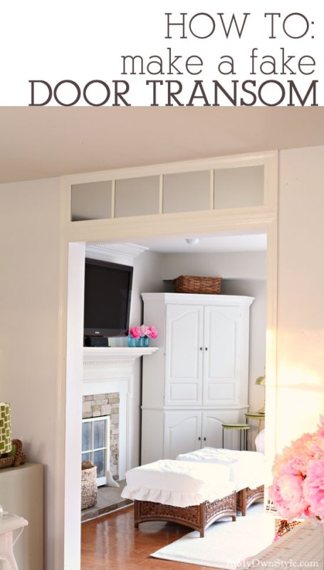 diy faux transom window over door frame - In My Own Style