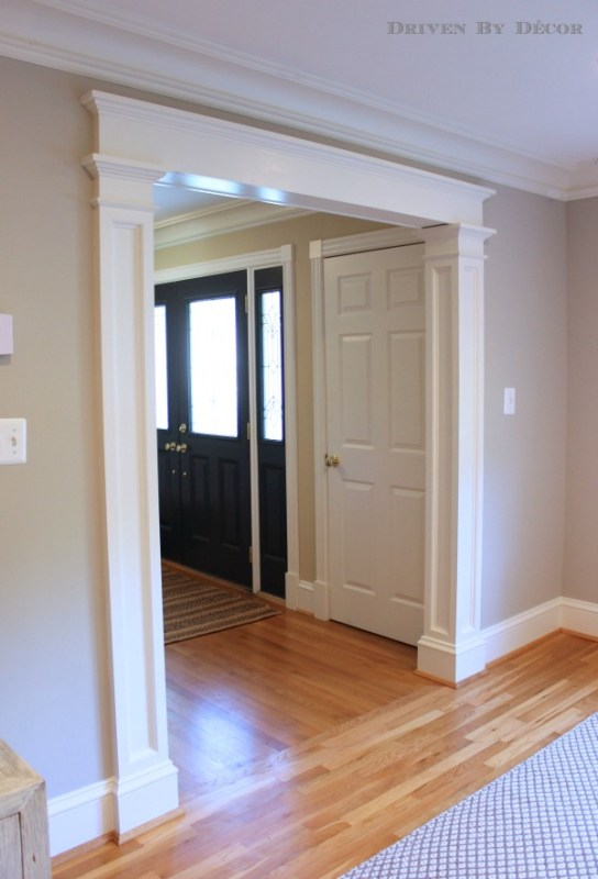 door casing with columns and lintel style - Driven By Decor