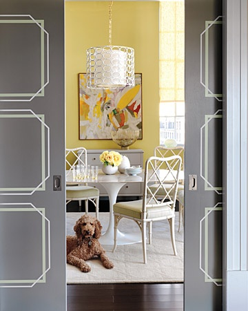 geometric painted flat door via Bedford Brooks