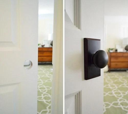 installing new door knobs - Young House Love