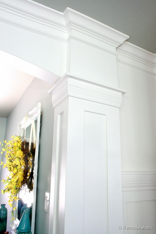 interior doorway column tutorial - Remodelaholic