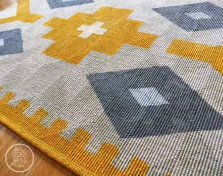 painted kilim rug