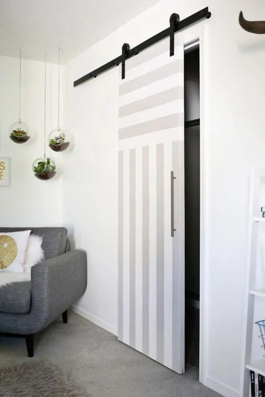 Remodelaholic | 40+ Ways to Update Flat Doors and Bifold Doors