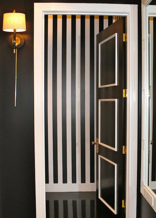 two tone paneled door with trim via DecorPad