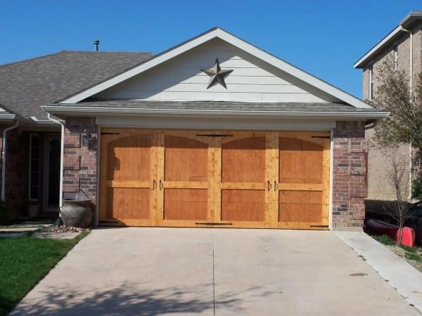 updated wood garage door DIY @Remodelaholic