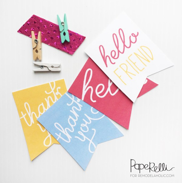 Printable Gift Tags designed by Paperelli   Remodelaholic.com
