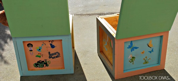 Building Block Seats with Storage for Playtable by ToolBox Divas for Remodelaholic