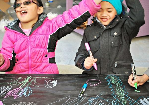 Chalkboard Building Block Playtable by ToolBox Divas for Remodelaholic