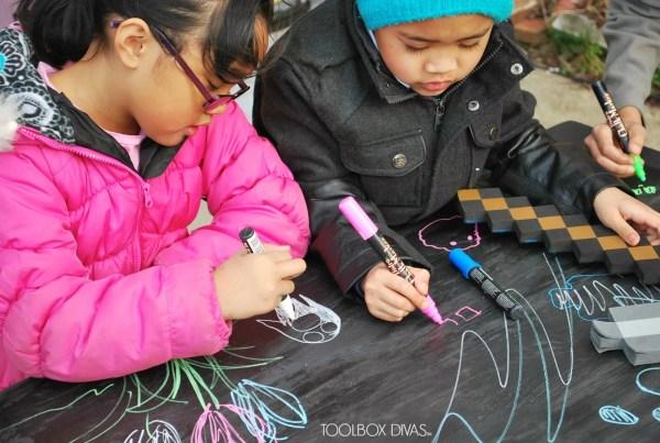 DIY Chalkboard Building Block Playtable by ToolBox Divas for Remodelaholic