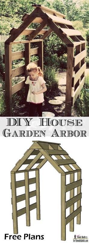 DIY House Garden Arbor free plans