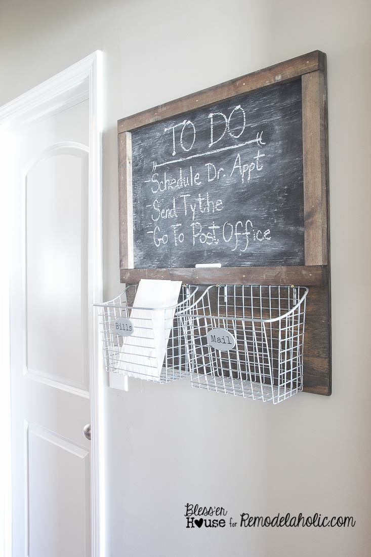Remodelaholic | DIY Industrial Locker Basket Mail Organizer