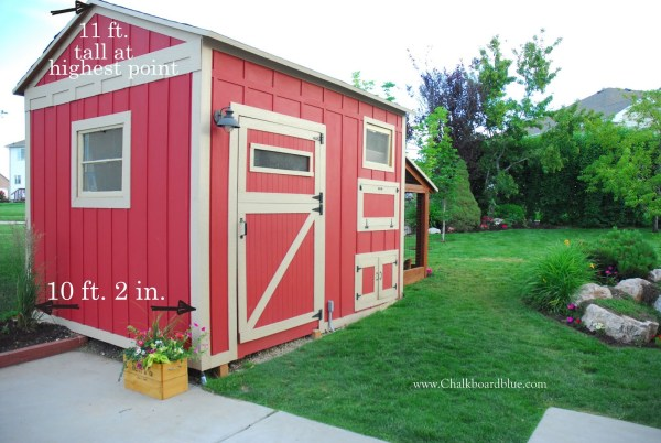 DIY Storage Shed and Chicken Coop by Chalkboardblue featured on Remodelaholic