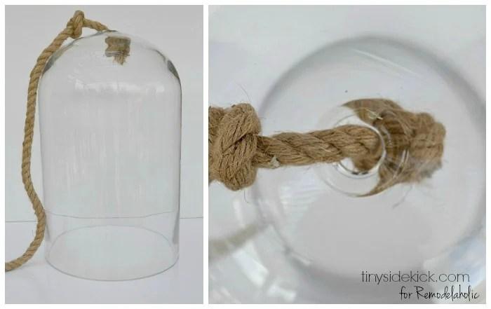 DIY glass pendant light