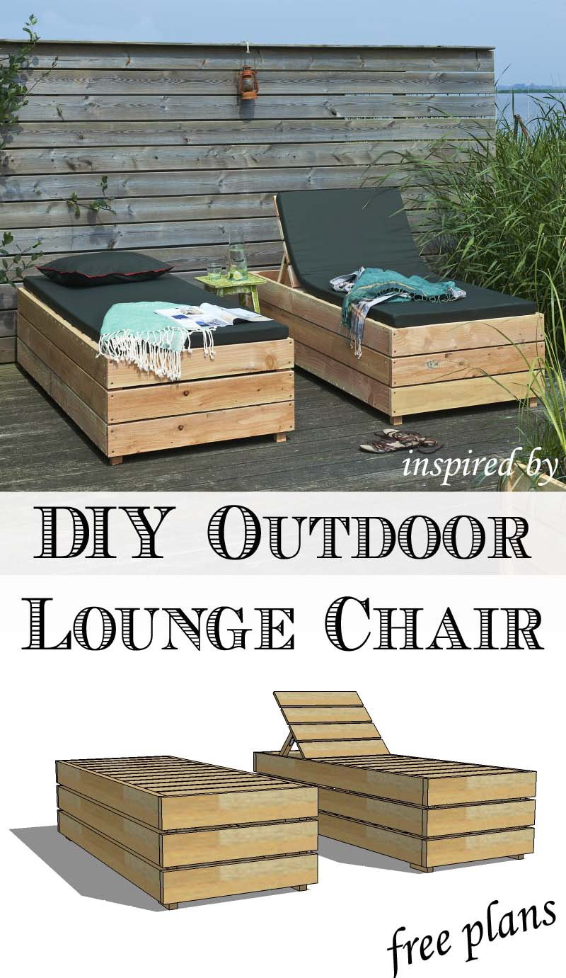 Diy Outdoor Chaise Lounge Chairs Easy Craft Ideas