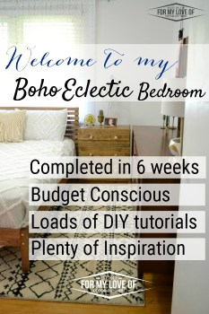 Welcome To My Boho Eclectic Bedroom Makeover completed n 6 weeks budget conscious loads of diy tutorials and plenty of inspiration