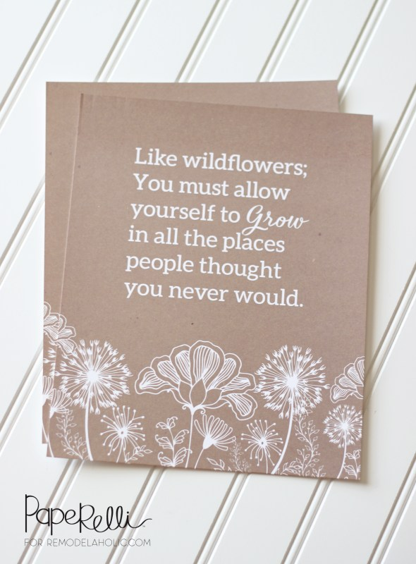 """""""Like wildflowers; You must follow your dream and learn to grow in all the places people never thought you would."""" -E.V. -- free printable to frame"""
