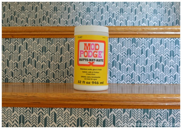 Wonderful Stair Update with Fabric Risers by Plaster and Disaster featured on @Remodelaholic