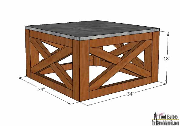 This Is The Perfect Outdoor Coffee Table For The Deck, Love The X Base.