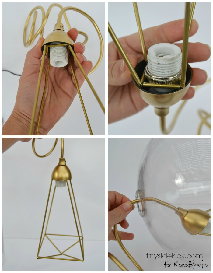 how to make a glass pendant light