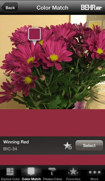 Behr Color Match - Free App to Choose Paint Colors From Photos @Remodelaholic
