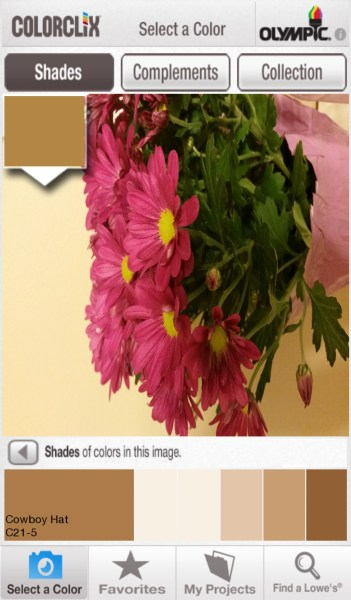 ColorClix by Olympic - Free Android DIY App to Find a Paint Color Based on a Photo @Remodelaholic