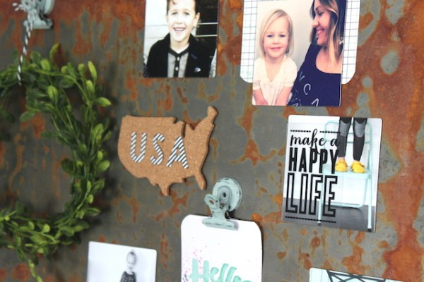 Create your own weathered indutrial wall art by The Winthrop Chronicles featured on Remodelaholic