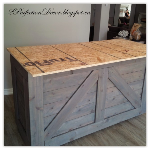 DIY Bar using an IKEA Cabinet and Reclaimed Wood by 2Perfection Decor Blog featured on Remodelaholic