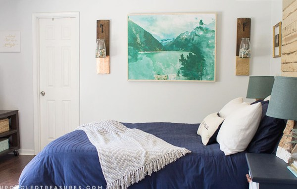 DIY Large Scale Wall Art by Upcycled Treasures for Remodelaholic