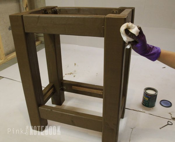 DIY Open Vanity for an IKEA Sink by Pink Little Notebook featured on Remodelaholic