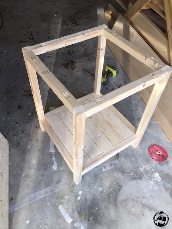 DIY Simple Square Side Table Plans - Step 9