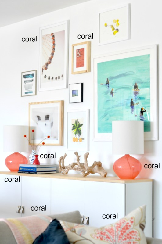 How to Tie Accessories into a Gallery Wall Color Palette