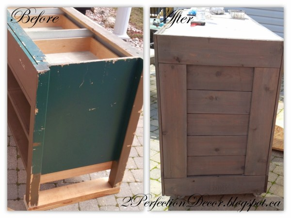 How to Upcycle a Cabinet into a Wooden Bar by 2Perfection Decor Blog featured on Remodelaholic