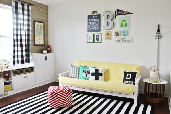 Kid's Cabin Themed Playroom Makeover, Delightfully Noted