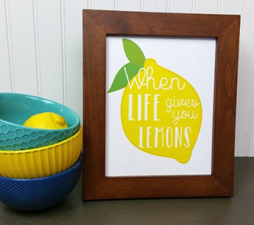 Lemon Art Printables by Paperelli @Remodelaholic