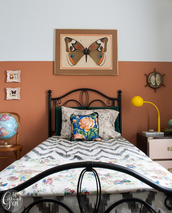 Nautical Naturalist Bedroom Makeover via The Gathered Home